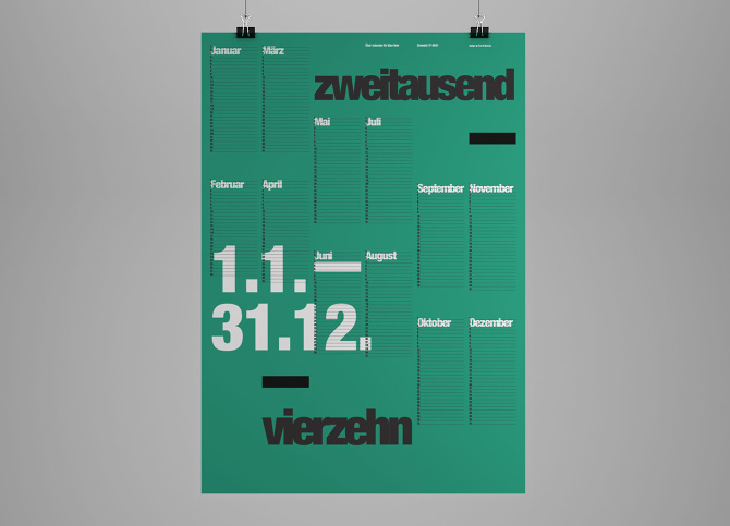 the international typographic wall calendar 2014 farid balian