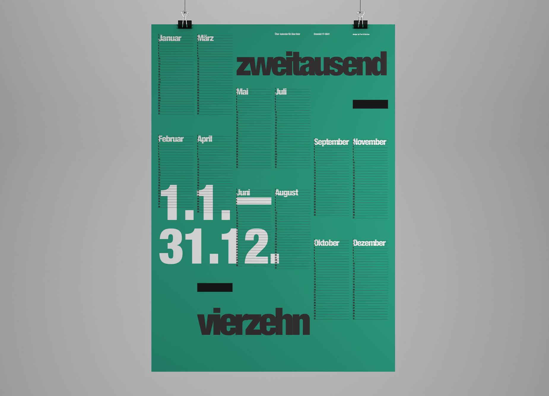 Calendar Typography Zenfolio : The international typographic wall calendar farid
