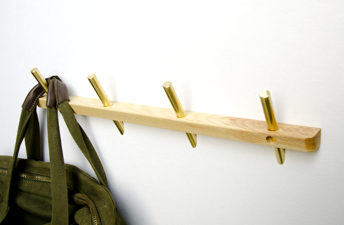 Intersect is a series of wall hooks and pegs made from Ash and Brass. The  series utilizes this intersection wood and brass to maintain a large  contact area ...